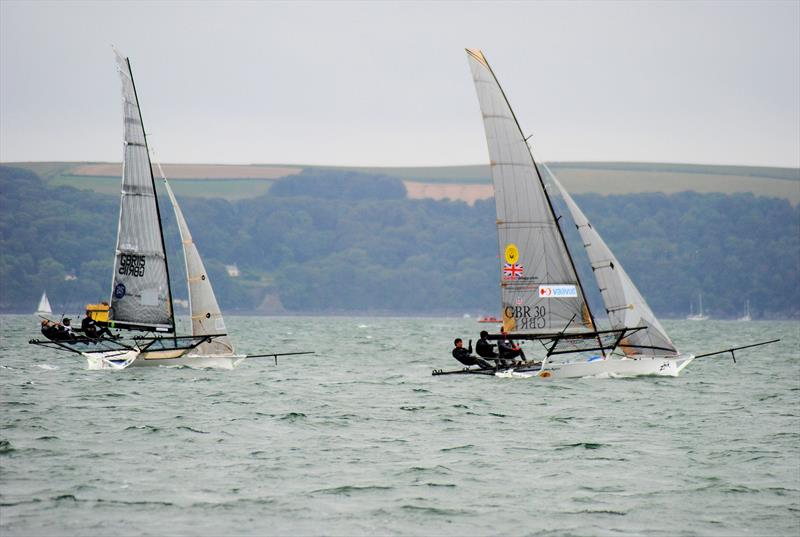 18ft Skiff UK Nationals at Plymouth day 1 - photo © Keith Kendall