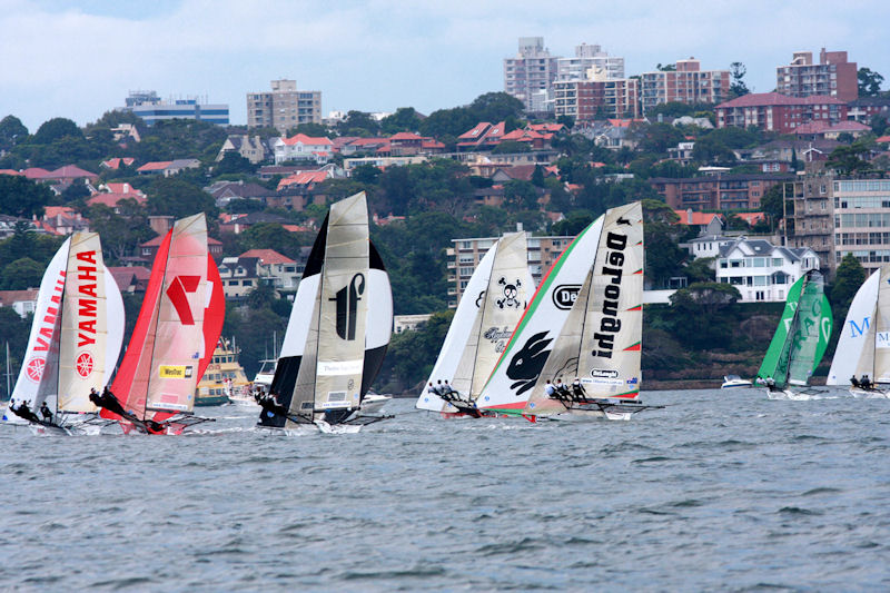 The first spinnaker run during race 1 of the 63rd JJ Giltinan Championship