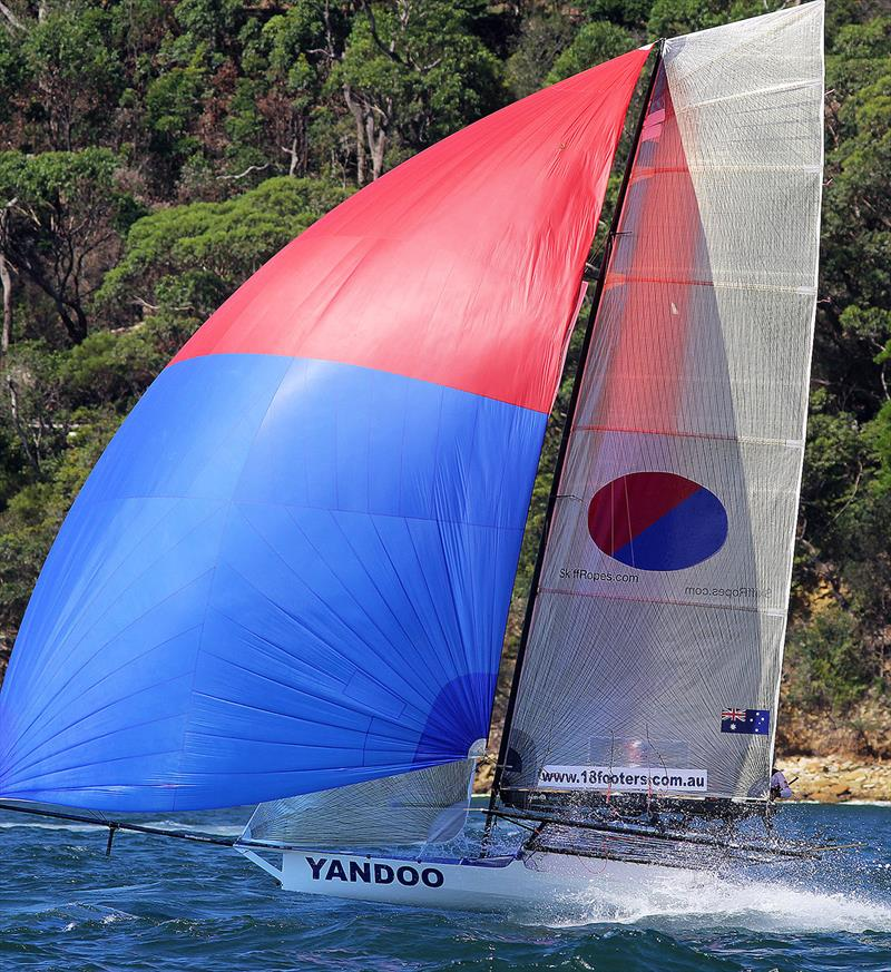 A flying finish for Yandoo to take Race 4 - 18ft Skiffs: Australian Championship 2018 - photo © Frank Quealey