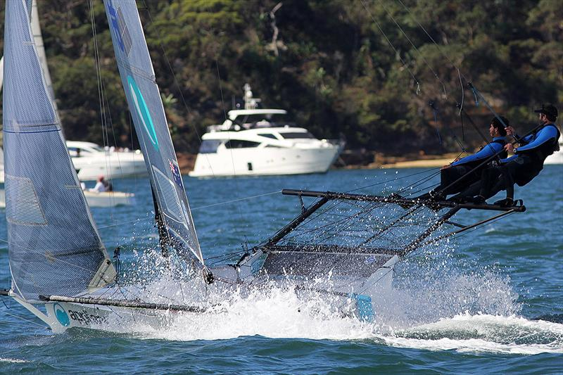Appliancesonline produces a blistering finish to Race 4 - 18ft Skiffs: Australian Championship 2018 - photo © Frank Quealey