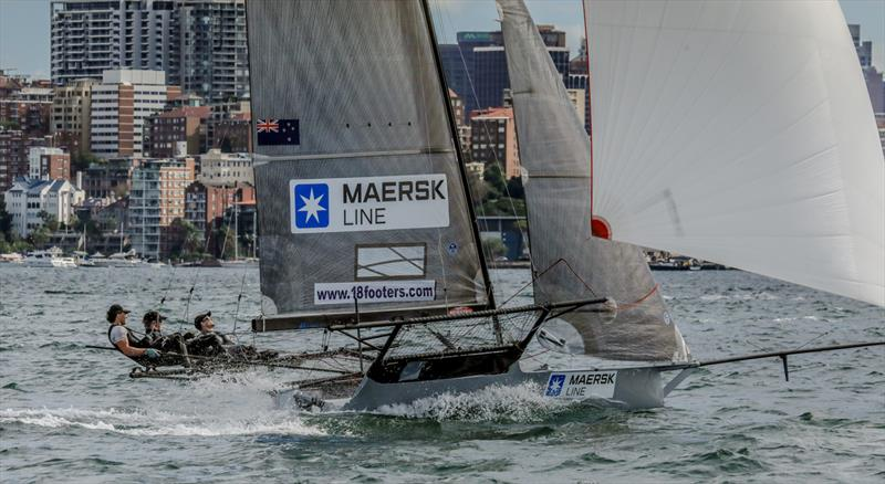 JJ Giltinan 18ft Skiff Championship, March 8, 2018 Sydney Harbour photo copyright Michael Chittenden taken at Australian 18 Footers League and featuring the 18ft Skiff class