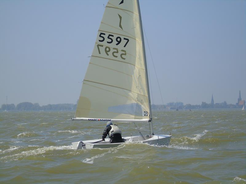 Andy Davis at the Solo Nation's Cup photo copyright Will Loy taken at Regatta Center Medemblik and featuring the Solo class