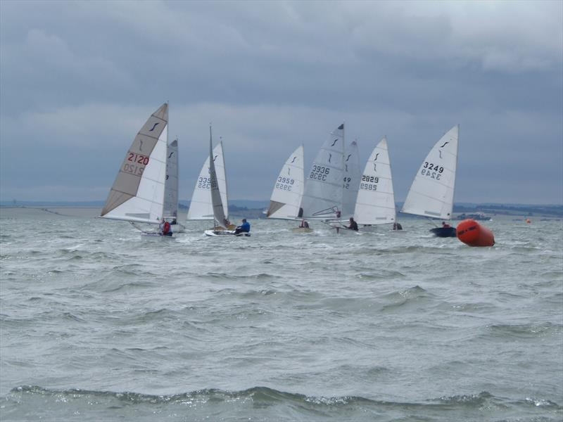 Heading for mark 4 during the Solo Eastern Championship at Leigh-on-Sea - photo © Dave Smith