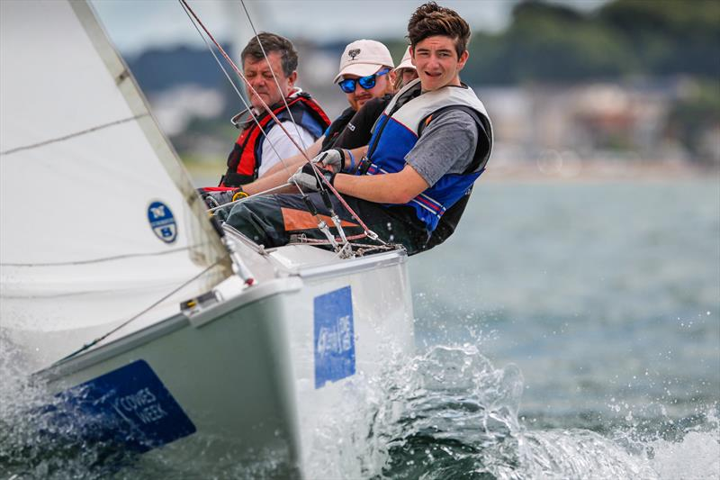 Sonar class winner, Bertie at Lendy Cowes Week 2017 - photo © Paul Wyeth