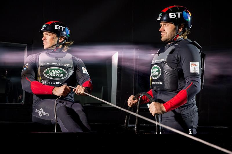 The Land Rover BAR team test the Spinlock buoyancy aid in the wind tunnel - photo © Land Rover BAR / Harry KH