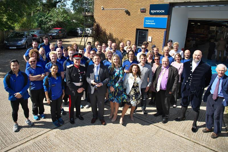 The Spinlock team, joined by local dignitaries, celebrated their Queen's Award for Enterprise: Innovation at their production facility in Cowes, Isle of Wight photo copyright Spinlock taken at  and featuring the  class