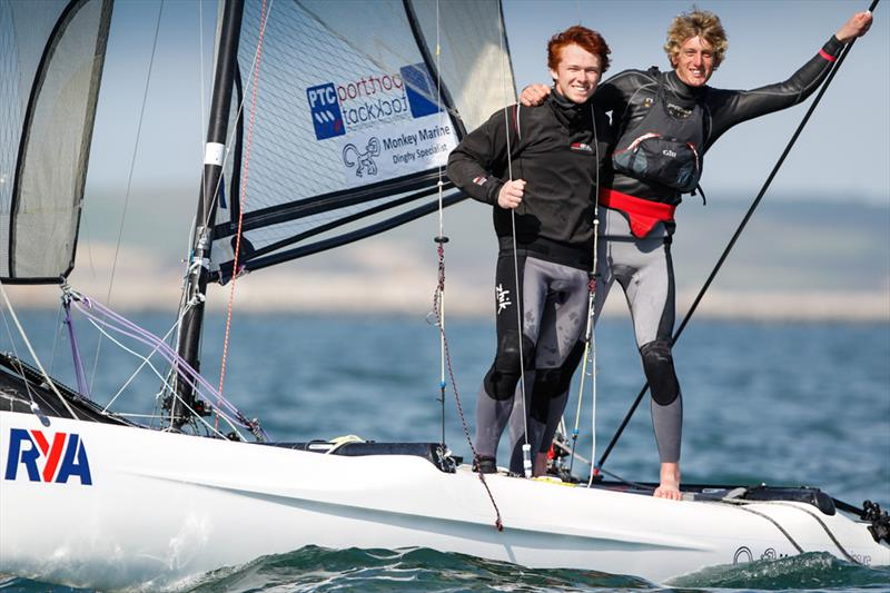 Sam Barker and Ross McFarline win the Spitfire title at the RYA Youth National Championships - photo © Paul Wyeth / RYA
