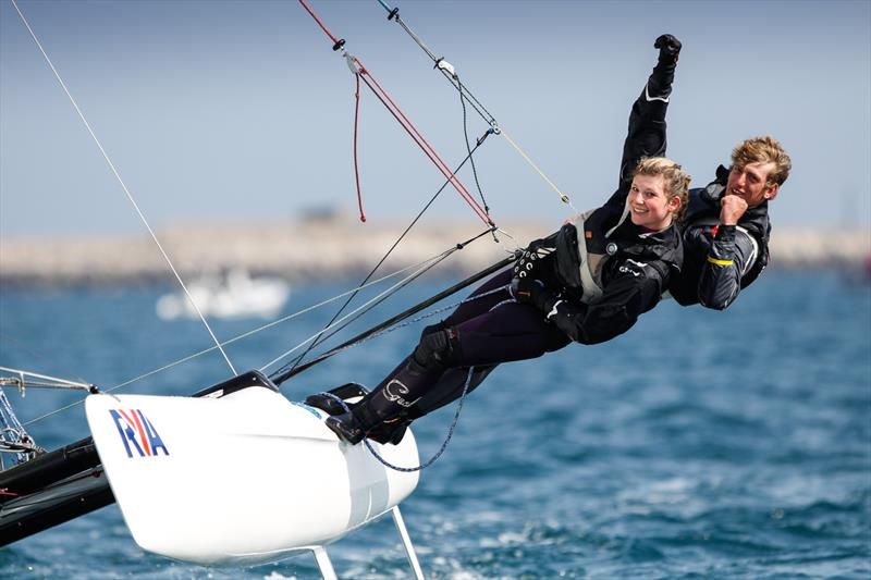 Sam Barker and Victoria Akhurst at the RYA Youth Nationals - photo © Paul Wyeth / RYA