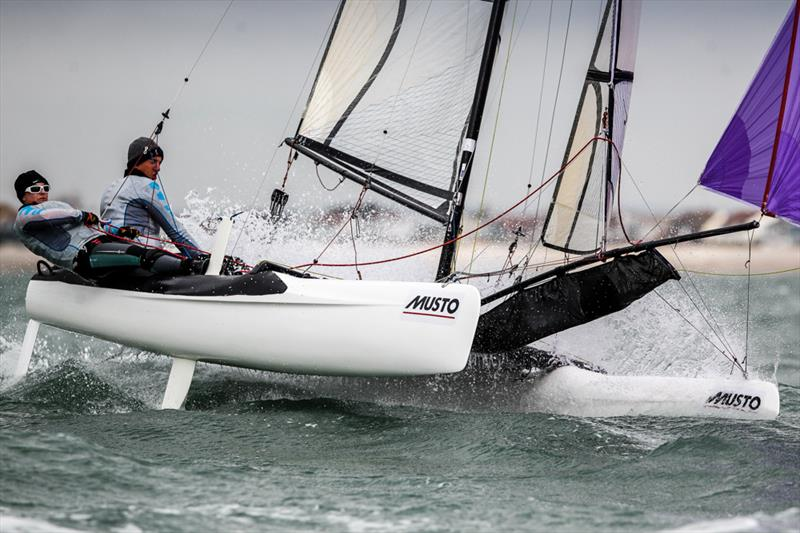 Will Smith and Abigail Clarke on day 3 of the RYA Youth Nationals - photo © Paul Wyeth / RYA
