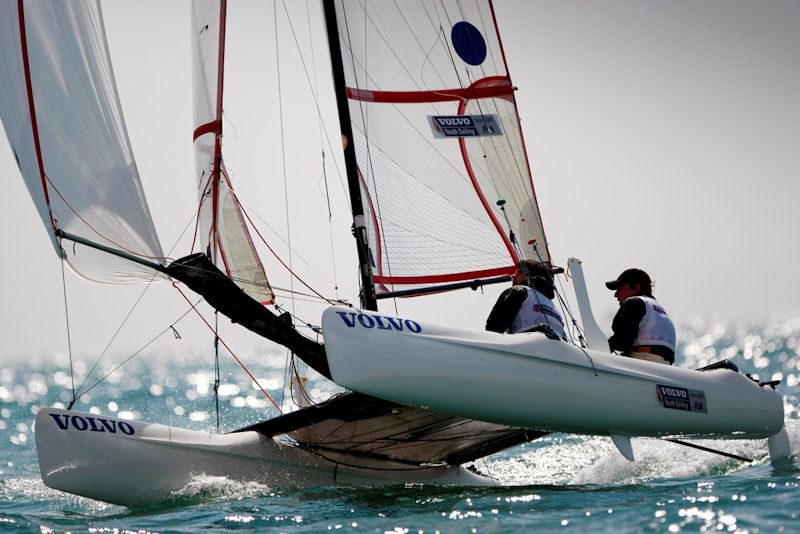 Action from the 2011 RYA Volvo Youth National Championships photo copyright Paul Wyeth / RYA taken at Hayling Island Sailing Club and featuring the Spitfire class