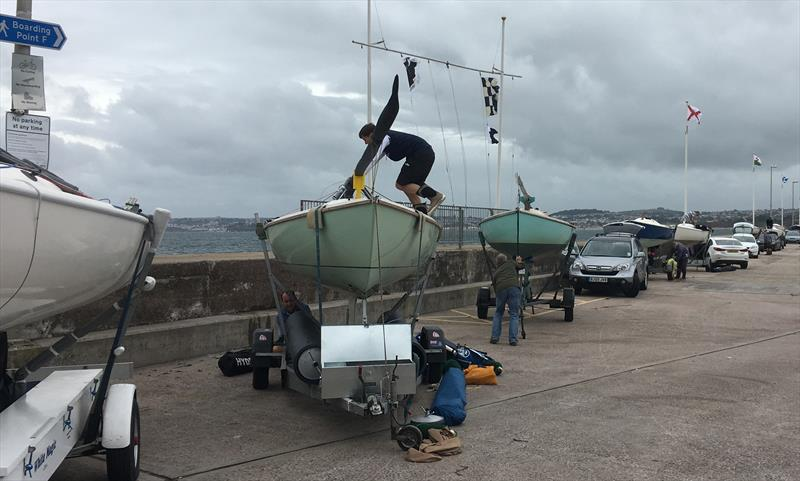 Packing up after day 2 racing cancelled in the Squib South Coast Championships - photo © Keith Davies