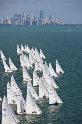 The Star feet on Biscayne Bay during the 2012 Bacardi Cup