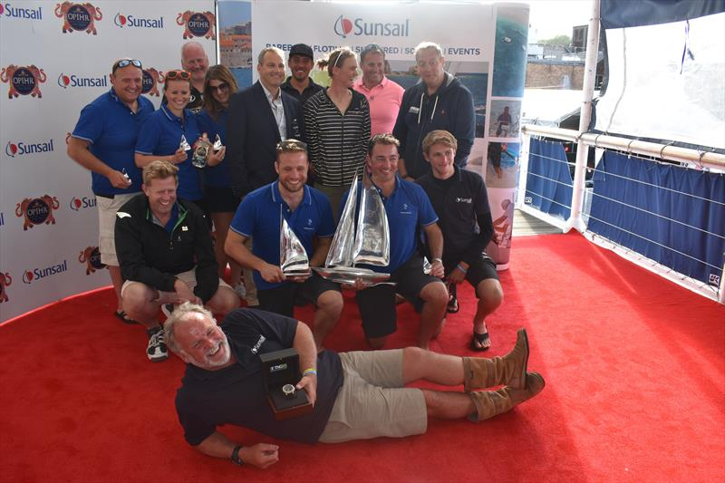 The winning CyberArk team at Lendy Cowes Week 2017 - photo © Sunsail