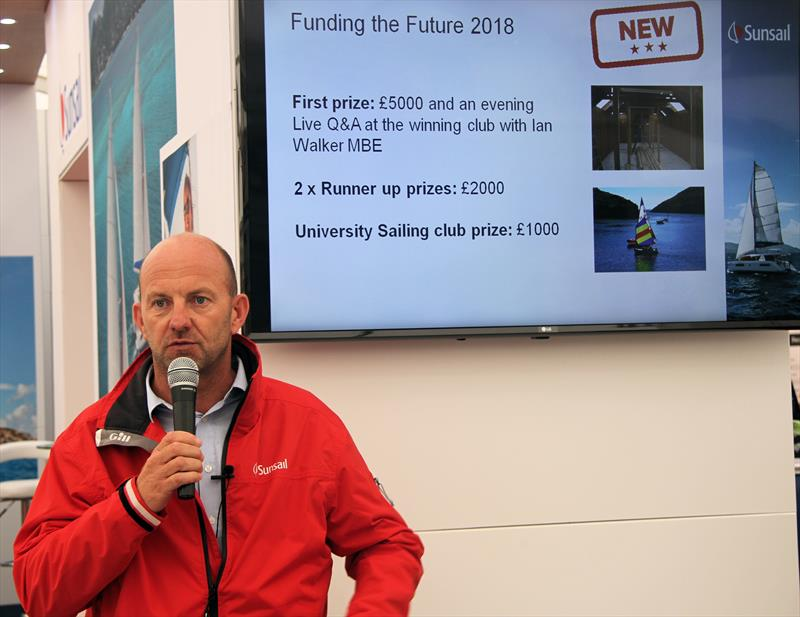 Ian Walker MBE speaks during the Funding the Future 2018 launch at TheYachtMarket.com Southampton Boat Show - photo © Mark Jardine / YachtsandYachting.com