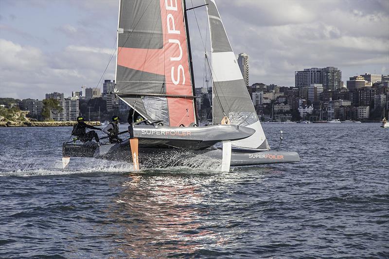 The SuperFoiler on Sydney Harbour - photo © John Curnow