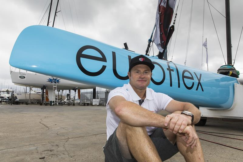 Glenn Ashby - Euroflex SuperFoiler Grand Prix Geelong, February 2018 photo copyright Andrea Francolini taken at Royal Geelong Yacht Club and featuring the Superfoiler class