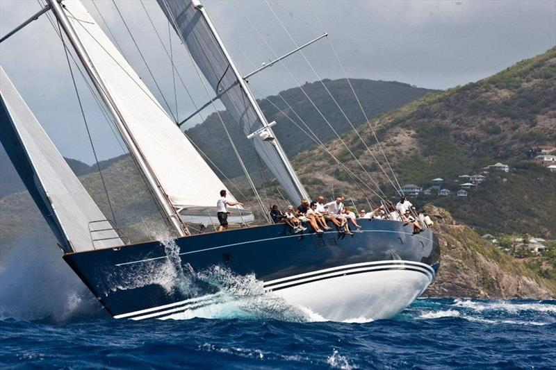 Peter Harrison's Supermaxi Sojana competing at the 50th edition of Antigua Sailing Week - photo © Paul Wyeth / www.pwpictures.com