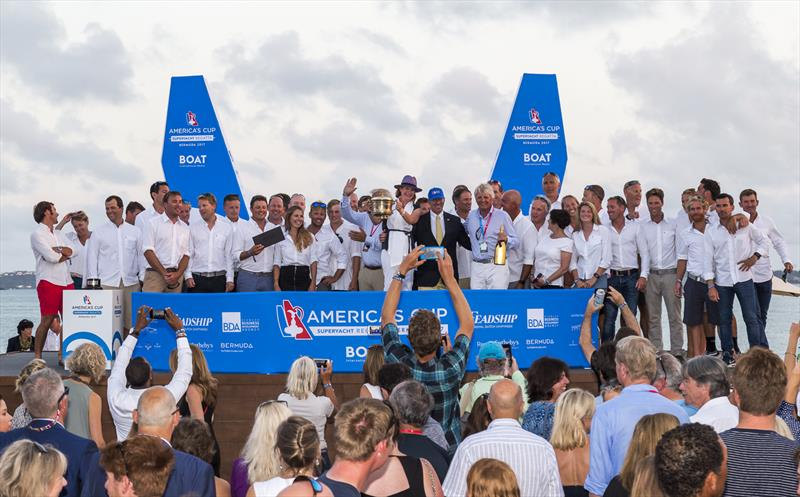 America's Cup Superyacht Regatta in Bermuda prize giving - photo © ACEA 2017 / Boat International Media