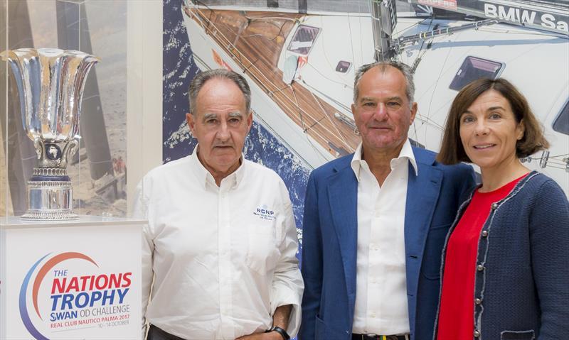 (l-r) Javier Sanz, President RCNP; Leonardo Ferragamo, Chairman Nautor's Swan; Pilar Carbonell, Illes Balears Goverment - photo © Nautor's Swan/Studio Borlenghi