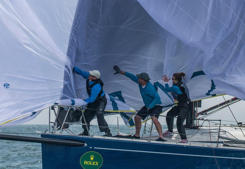 Bow work on John Hele's Swan 42 Daring during the 63rd New York Yacht Club Annual Regatta - photo © Rolex / Daniel Forster