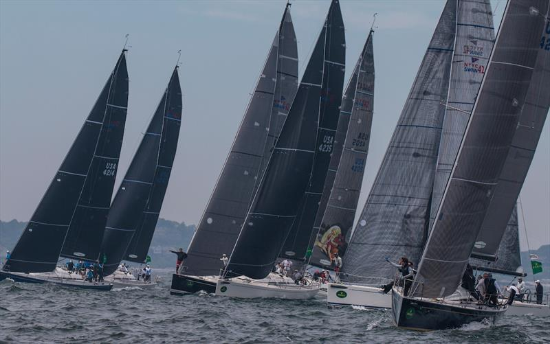 Swan 42 class start during the 63rd New York Yacht Club Annual Regatta - photo © Rolex / Daniel Forster