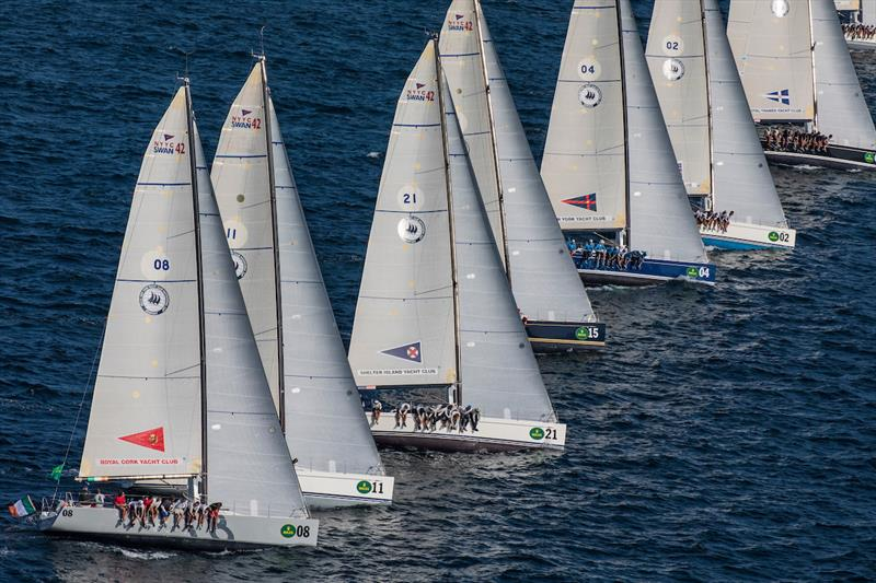 2017 Rolex New York Yacht Club Invitational Cup day 2 photo copyright Rolex / Daniel Forster taken at New York Yacht Club and featuring the Swan 42 class