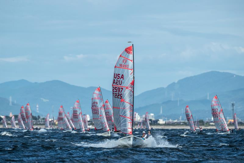 Jonathan McKee & Libby Johnson McKee (USA) leading the fleet during the 2017 Tasar Worlds in Gamagori, Japan - photo © Junichi Hirai / Bulkhead Magazine Japan