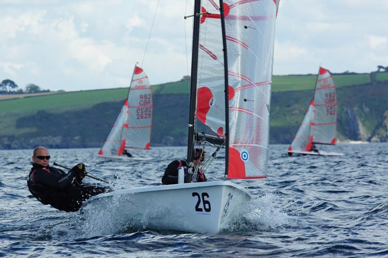 Tasar National Champions Jeremy & Suzanne Hawkins in action during the Tasar Nationals at Porthpean - photo © Chris Bilkey