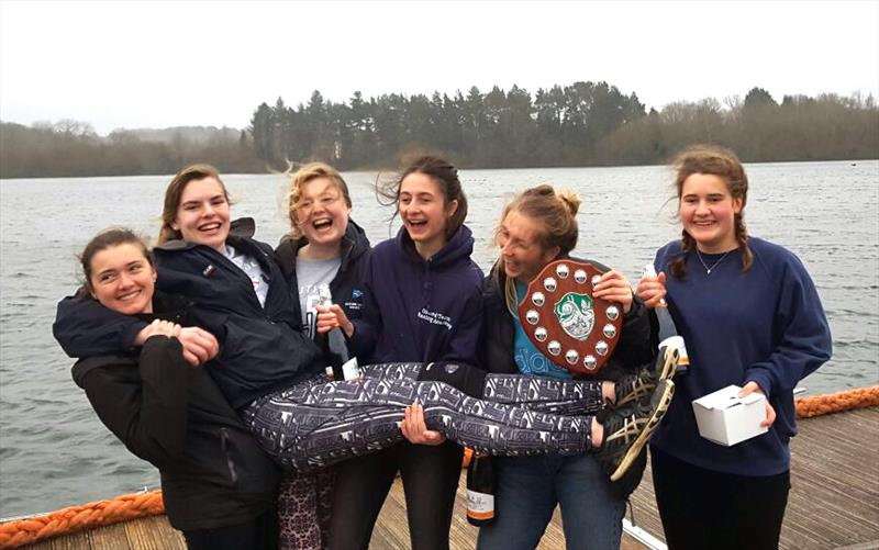 Oxford Blue win the BUSA Ladies' Team Racing Nationals 2017 - Captain Meli Besse dislocated her knee in the final - photo © Ed Morris