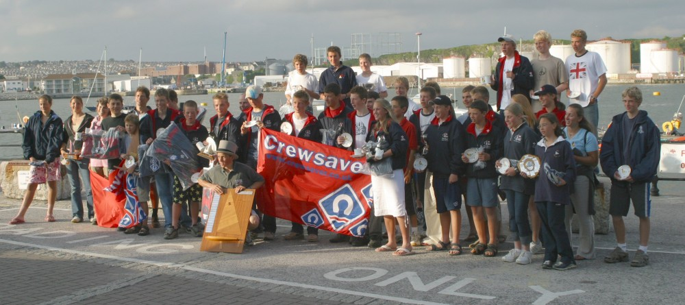 Prize winners at the Crewsaver Topper Nationals photo copyright Jane Fielder taken at Plym Yacht Club and featuring the Topper class