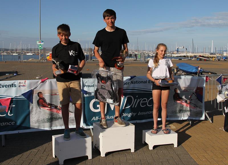 Bronze fleet podium at Topper UK National Championships 2015 - photo © Peter Newton / www.peternewton.zenfolio.com