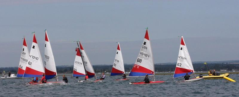 Senior Topper fleet at Bosham Junior Week - photo © Dawn Chesher & Greg Grant