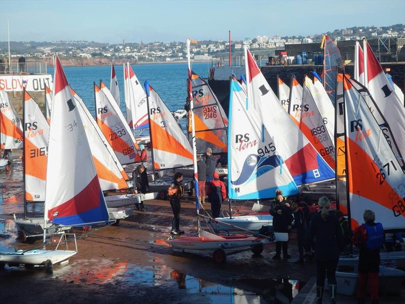 Tera and Topper winter training with the South West Youth Sailing Academy at Paignton - photo © Nicholas James
