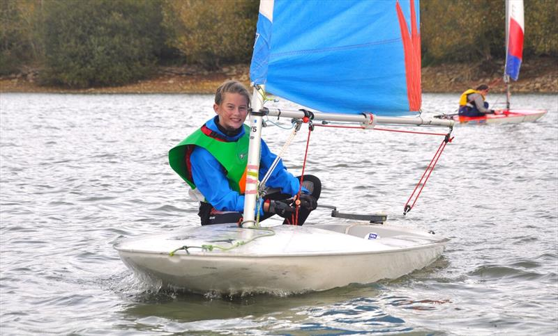 Cransley SC's Ollie Dale was taking part in only her second event at the NSSA Single Handed Team Racing Championships - photo © Banbury Sailing Club