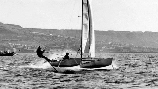 Elsewhere, July 1969 may have been 'one small step for man' but at Weymouth James Grogono and his Icarus project were taking giant leaps for speed sailing! - photo © James Grogono