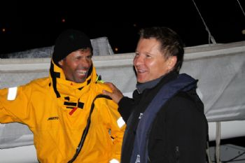 l'Hydroptère DCNS co-skippers Jacques Vincent and Alain Thebault