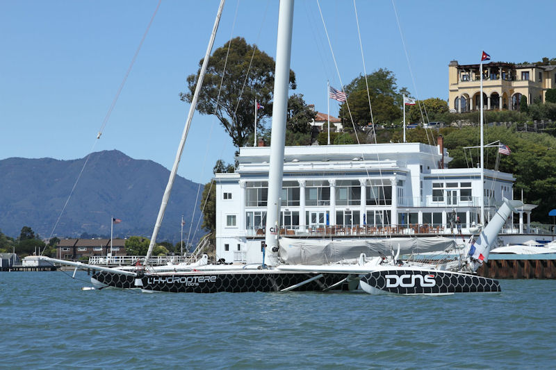 l'Hydroptère DCNS moored off Corinthian Yacht Club of San Francisco