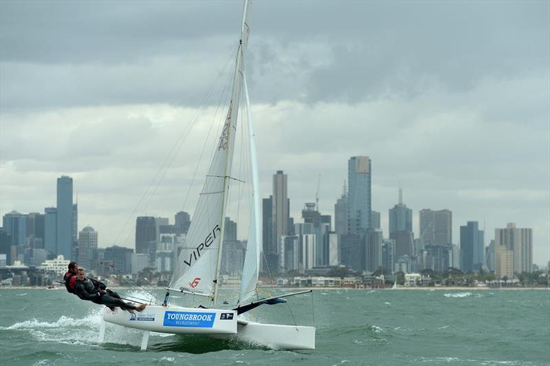 Invited classes racing at ISAF Sailing World Cup Melbourne - photo © Sport the library / Jeff Crow