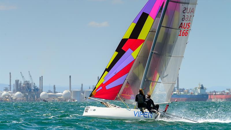 Michelle and Meagan Bursa on day 3 of the Viper Worlds at Geelong - photo © Peter La Fontaine