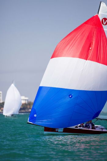 Andrew Weiss won today's race for the Viper 640 fleet at Bacardi Miami Sailing Week