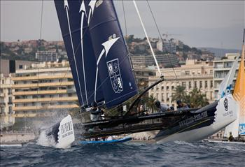 Groupe Edmond de Rothschild win Extreme Sailing Series Act 7 at Nice