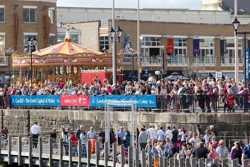 Thousands of spectators came to watch the Extreme 40s battle it out in Cardiff Bay in 2012