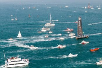 Abu Dhabi Ocean Racing win the Etihad Airways In-Port Race