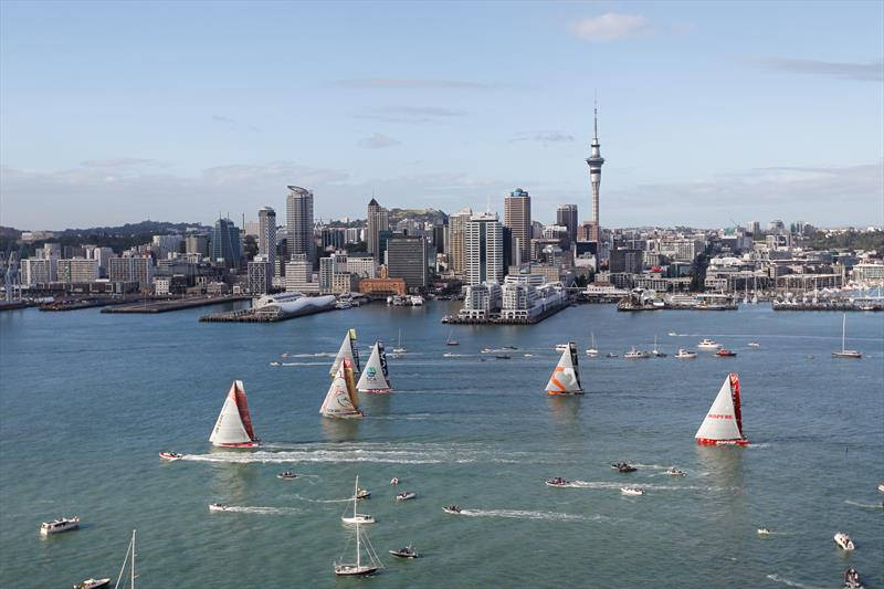 Volvo Ocean Race In-Port race in Auckland - photo © Ainhoa Sanchez / Volvo Ocean Race
