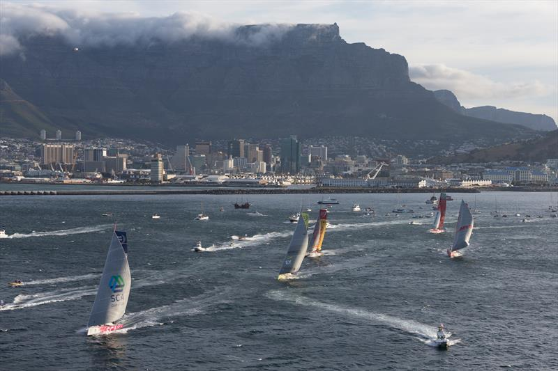 The fleet at the start of leg 2 from Cape Town to Abu Dhabi - photo © Gilles Martin-Raget / Team Alvimedica