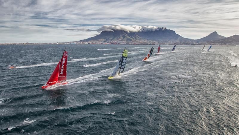 The fleet at the start of Leg 2 from Cape Town to Abu Dhabi - photo © Ainhoa Sanchez / Volvo Ocean Race