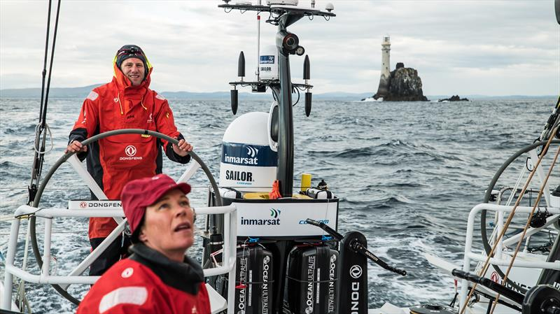 Downwind after the rock on board Dongfeng in the Rolex Fastnet Race - photo © Jeremie Lecaudey / Volvo Ocean Race