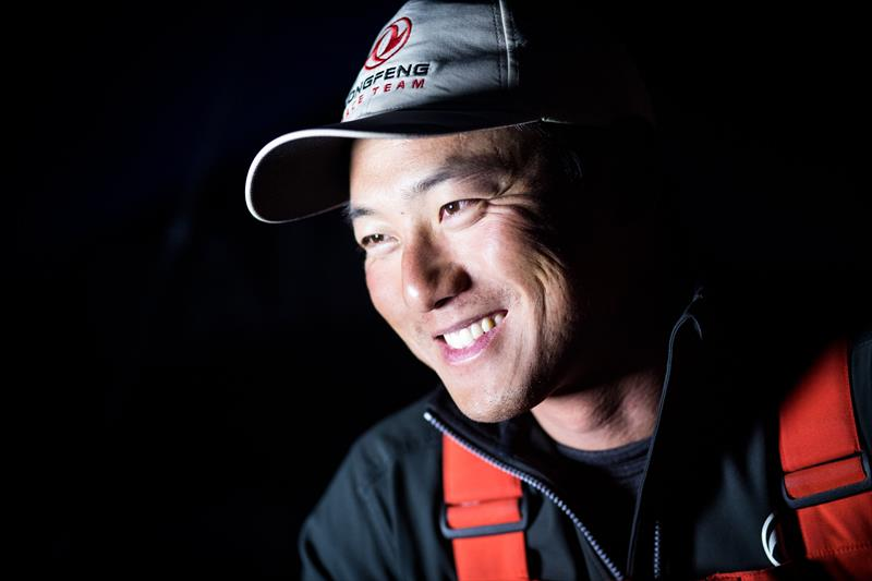 Dongfeng's Chen Jinhao after the Rolex Fastnet Race - photo © Eloi Stichelbaut / Dongfeng Race Team