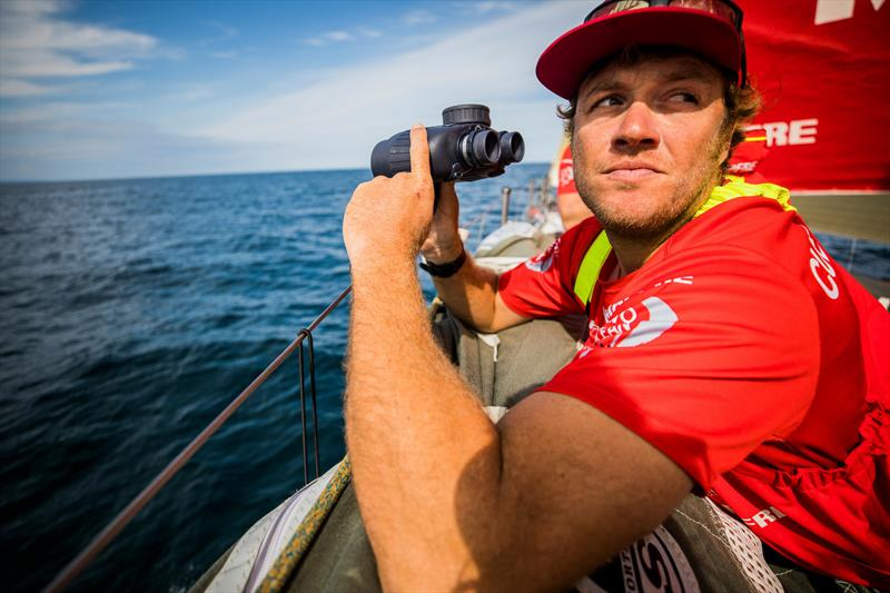 On board MAPFRE during the Volvo Ocean Race Leg 0 St. Malo to Lisbon race start - photo © Jen Edney / Volvo Ocean Race