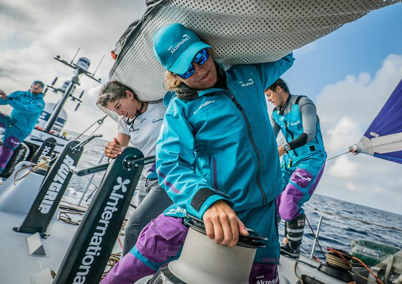 First morning on board AkzoNobel during Volvo Ocean Race Leg 1: Alicante to Lisbon - photo © Konrad Frost / Volvo Ocean Race